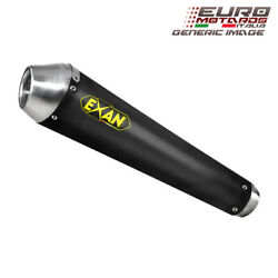 Moto V7 2008 Exan Exhaust Silencer Conic-nx Stainless/black Dual X2