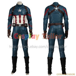Captain America 3 Civil War Steve Rogers Cosplay Costume Halloween Outfit Cool