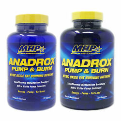 Mhp Anadrox Pump And Burn Nitric Oxide Fat Burning Inferno 112 Ct Or 224 Ct Size