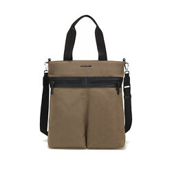 MANDARINA DUCK Unisex Tote & Crossbody Bag MASK PBT03718 Brown Casual Cotton