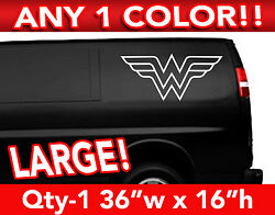 Wonder Woman Outlined Large Decal Sticker 36w X 17h Any 1 Color