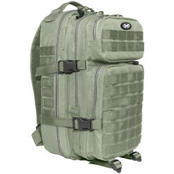 Mfh Backpack Assault I 30l Trekking Army Style Molle Heavy-duty Rucksack Foliage