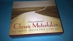 2008 Classic Motorbikes International 5 Coin 1oz Silver Proof Coin Set
