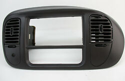 FORD F150 EXPEDITION CENTER DASH RADIO AC CLIMATE BEZEL AIR VENT TRIM GRAY 97-03