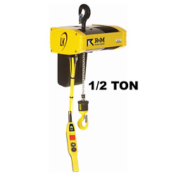 Randm Lk05 Electric Chain Hoist - 1/2 Ton 20 Ft Lift Single Phase With Top Hook