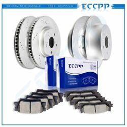 Ceramic Brake Pads And Rotors Front Rear For Toyota Avalon Hybrid Touring Xl