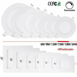 6W 9W 12W 15W 18W 24W Dimmable LED Recessed Ceiling Panel Down Light Bulbs HM