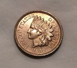 1859 Indian Head Cent - Amazing Coin Fiery Luster 10254