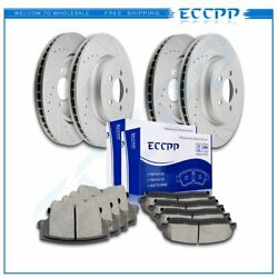 Ceramic Brake Pads And Rotors Front Rear For Chrysler 300 C Limited Touring S