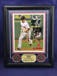Boston Red Sox Jacoby Ellsbury Limited Photo Gold Coins Highland Mint Mlb Ws24