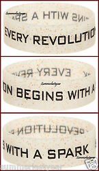 Revolution Rubber Bracelet The Hunger Games Catching Fire Authentic Neca