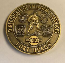 Us Army Ft Bragg Nc Directorate Of Emergency Services Coin For Excellence