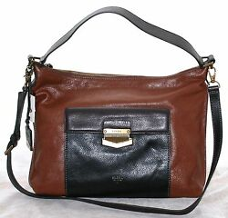 Fossil Vickery Brown Large Leather Cross Body Shoulder Bag ZB6680200
