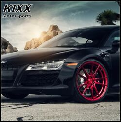 20 Rohana Rf2 20x9/10 Forged Red Concave Wheels For Maserati Quattroporte