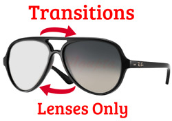 TRANSITIONS GREY RB 4125 Cats 5000 Anti Glare Replacement Lens Ray Ban 59mm