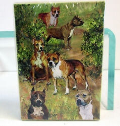 Amstaff American Staffordshire Terrier Poker Playing Card Set of Cards Pitbull