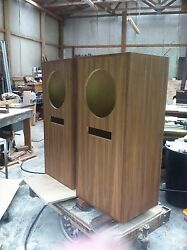 Pair New Stonehenge V Cabinets For Altec 604 Speakers Walnut And Oak. Will Ship