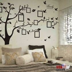 Large Family Tree Wall Decal Sticker Removable Vinyl Photo Pictures Frame Black