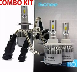 TF R6 F - Series 3800 Lms 36W Xenon Bright White LED Kit H7 and 9005 Bulbs