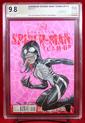 Superior Spider-man Team Up 1 Pgx 9.8 Nm/mt Cover Sketch By Steve Lydic