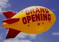 13and039 Helium Advertising Blimp For Outdoor Use With Custom Printing On Two Sides