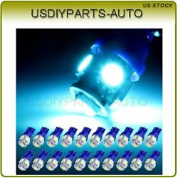 20X Ice Blue 5-SMD LED Trunk Map Dome License Plate Light Bulbs T10 194 168 2825