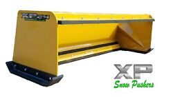 7and039 Xp24 Cat Yellow Snow Pusher W/ Pullback Bar- Skid Steer Loader- Local Pick Up