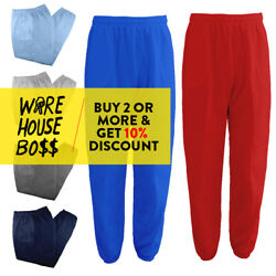 HI MENS WOMENS UNISEX PLAIN SWEATPANTS 3 POCKET CASUAL FLEECE JOGGER DRAWSTRING  $12.50