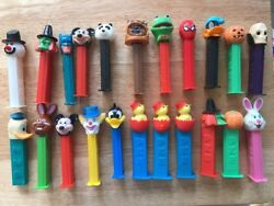 Lot Of 22 Pez Dispensers Disney Batman Spider-man Mickey Mouse With Some Vintage