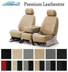 Coverking Custom Front Row Seat Covers Premium Leatherette Choose Color $249.99