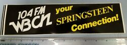 WBCN Boston Vintage Bruce Springsteen Promotional Sticker New Old Stock Flawless