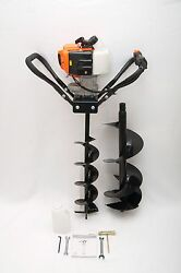 Hand-held Post Hole Digger / Earth Auger W/ 6 10 Bits 43cc 1.75hp Gas Engine