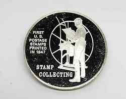 1972 Postmasters Of America Stamp Collecting 35 Sterling Silver Medal Coin Fm