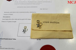 Louis Vuitton 18k Yellow And White Gold Love Charm-date Coderfa668-authentic