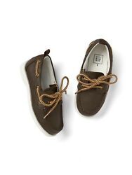Gap Baby / Toddler Boy Size 10 Brown Faux-leather Slip-on Boat Shoes Sneakers