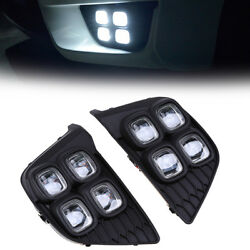 2x Exact Fit Switchback LED DRL Day Running Lights For Honda Fit Jazz 2014-2017