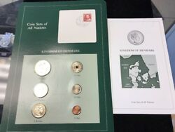 Coin Sets Of All Nations Denmark 6 Unc Coins 1984 Green Set + Card