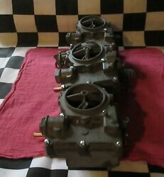 Vintage Used Genuine Rochester Tripower Carburetor/carb Removed From 62 Corvette