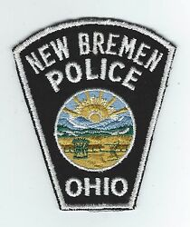 Vintage New Bremen, Ohio Police Cheese Cloth Back Patch