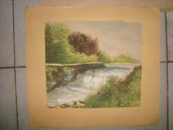 4 Old Vintage Water Color Paintings From India 1960