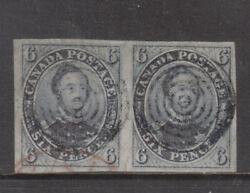 Canada 2 Extra Fine Used Scarce Pair With Certificate