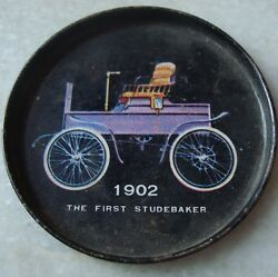 Old Vintage Tin Round Small Size Car's Coaster Plate From India 1960