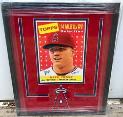 FRAMED MIKE TROUT 2014 TOPPS ALL STAR JUMBO CARD SIGNEDINSCRIBED LE 10 5-TOOL