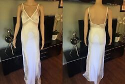 New Roberto Cavalli Runway Sexy Bustier Open Back Knit Dress Gown It 40 Us 4