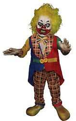 Halloween Animated Whacko Crazy Scary Little Psycho Clown Prop Haunted House New