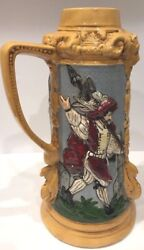 """Vintage Germany Ceramic Tall Pitcher Stein 1998 """"collectible"""""""