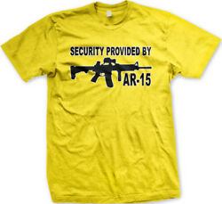 Security Provided By Ar-15 Home Protection Safe Right Bear Arms To Menand039s T-shirt