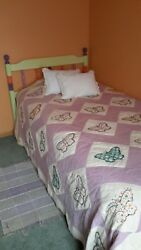 Antique Rare Style Twin Bed Size Butterfly Quilt
