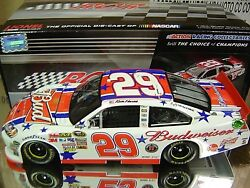 Rare Signed 2011 Kevin Harvick Budweiser 4th Of July Childress Impala 2428 Made