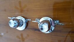 1958 Cadillac Radio Knobs And Bezels And Tuner Plates Replated
